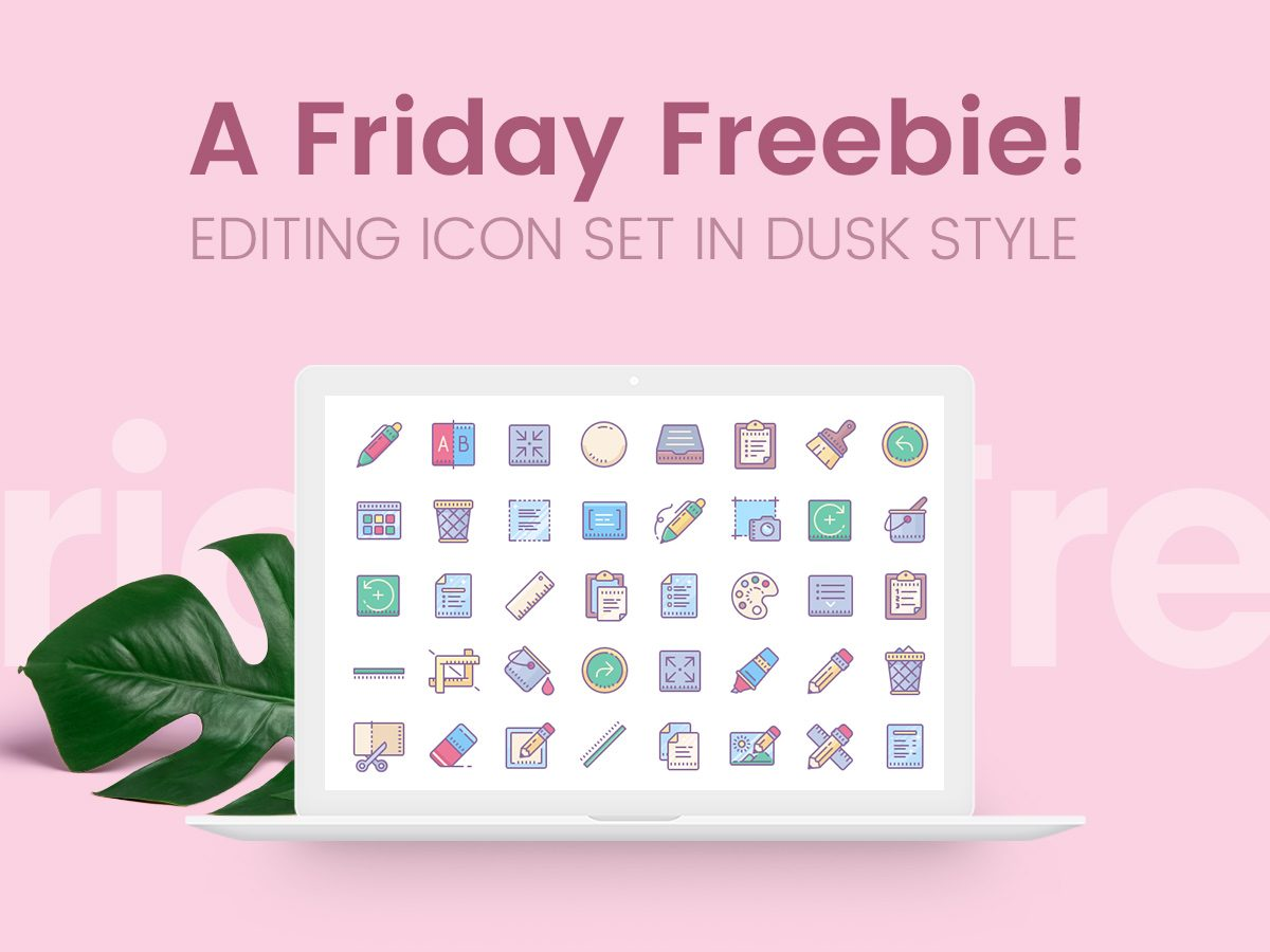 A Friday Freebie - Editing Icon Set in Dusk Style