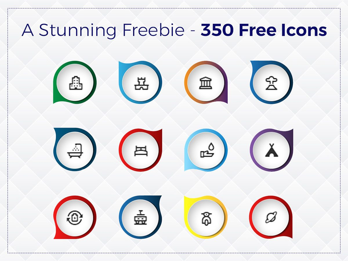 A Stunning Freebie - 350 Free Icons - Material Design Style