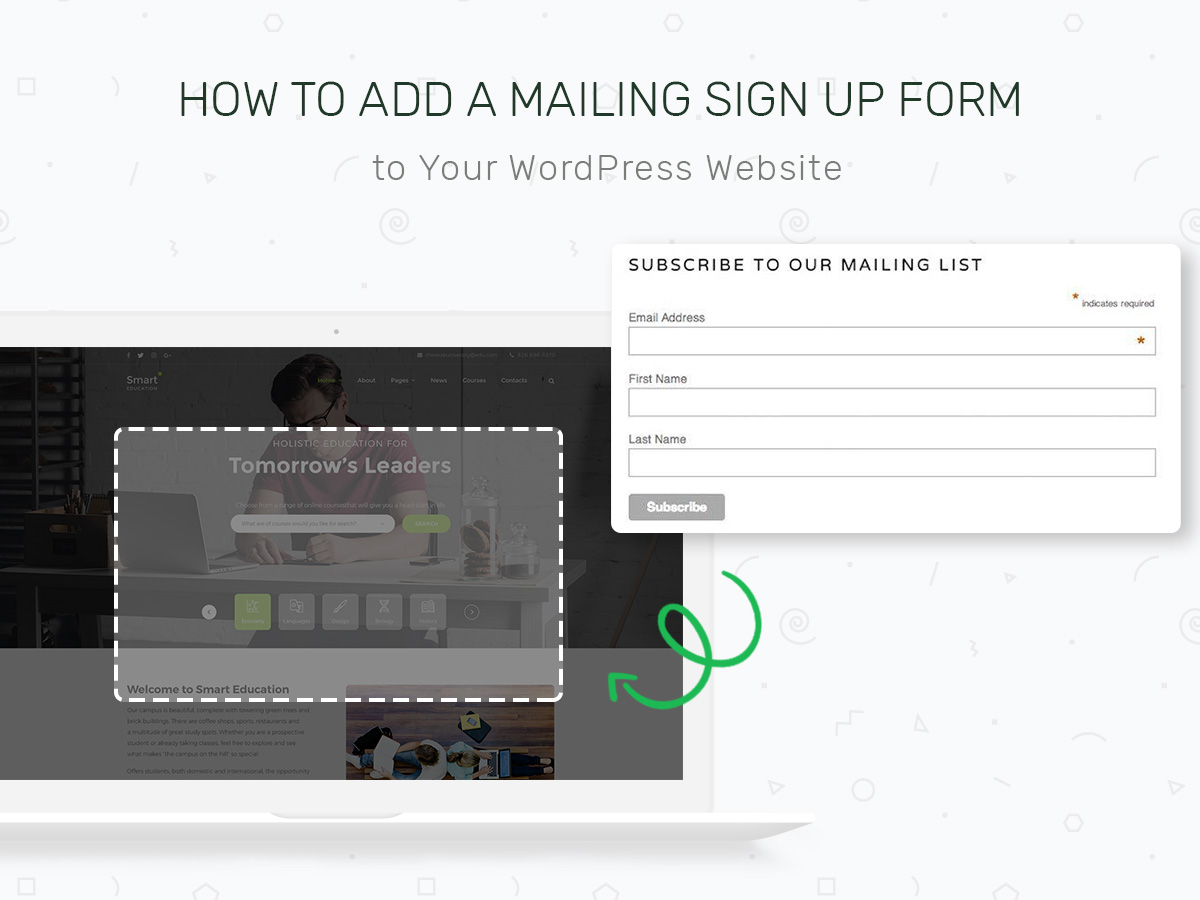 How to Add a Mailing List SignUp Form to Your WordPress Website
