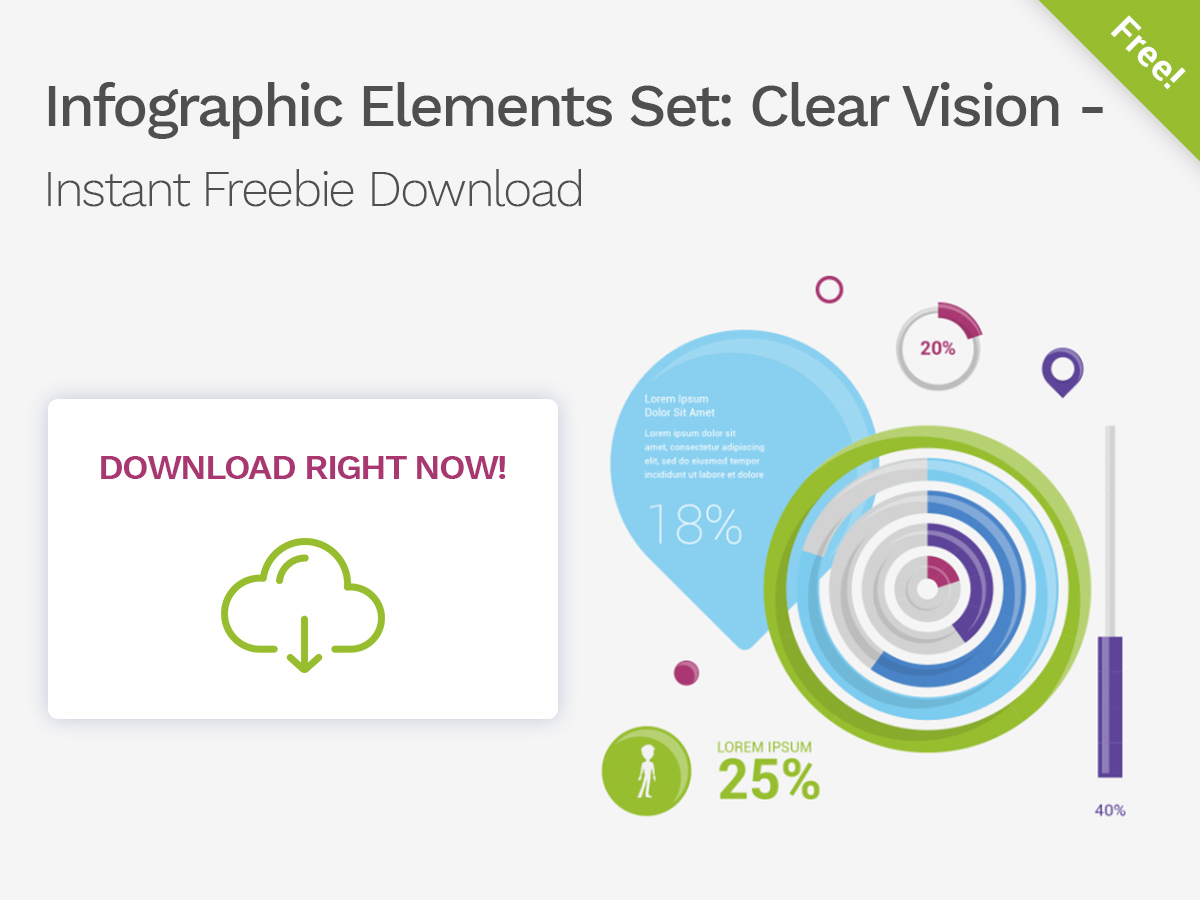 Infographic Elements Set Clear Vision - Instant Freebie Download 1