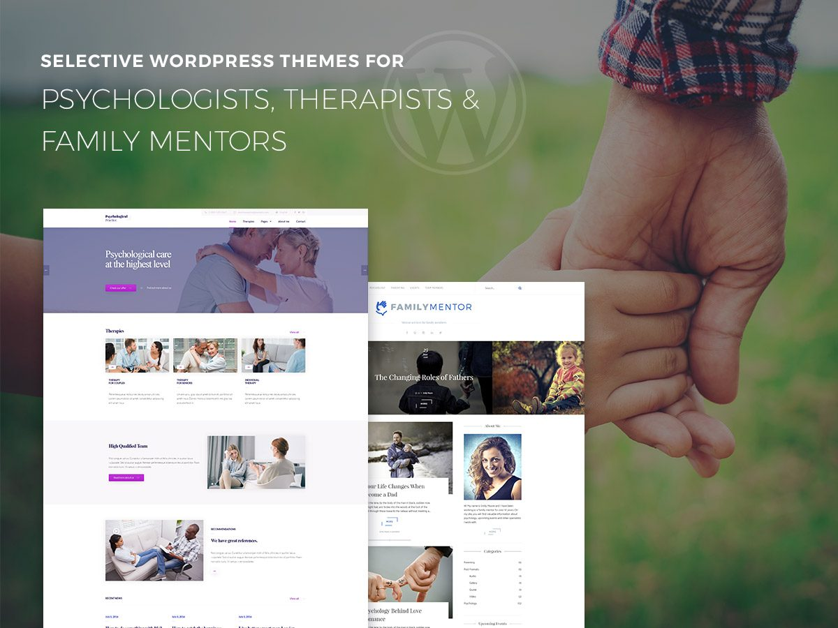 Selective WordPress Themes for Psychologists, Therapists and Family Mentors