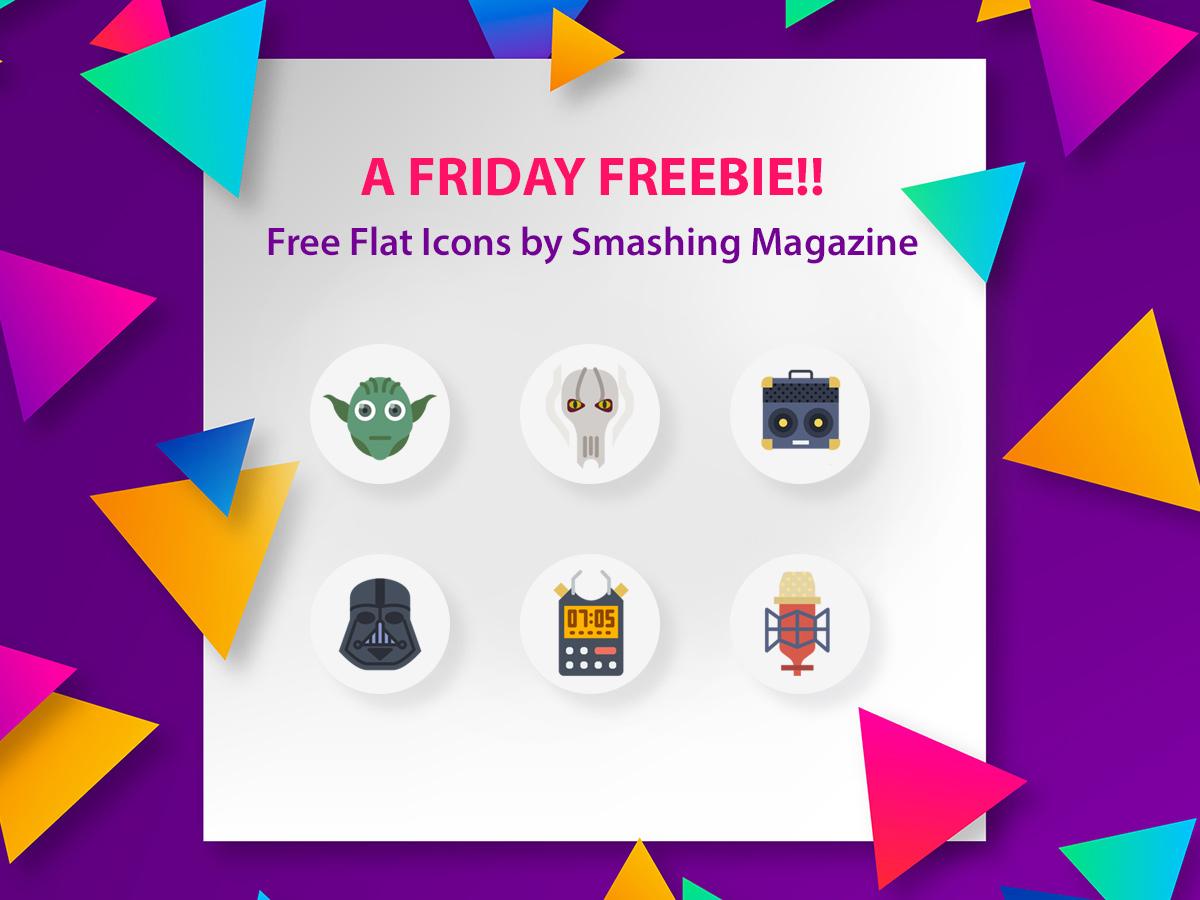 A Friday Freebie - Free Flat Icons by Smashing Magazine