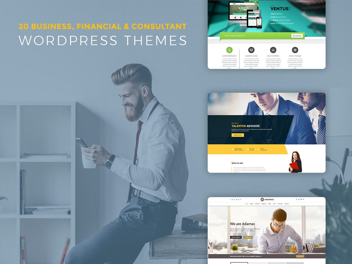Business, Financial and Consultant WordPress Themes for July 2017