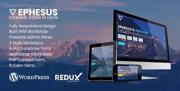 Ephesus - Creative Coming Soon WordPress Plugin