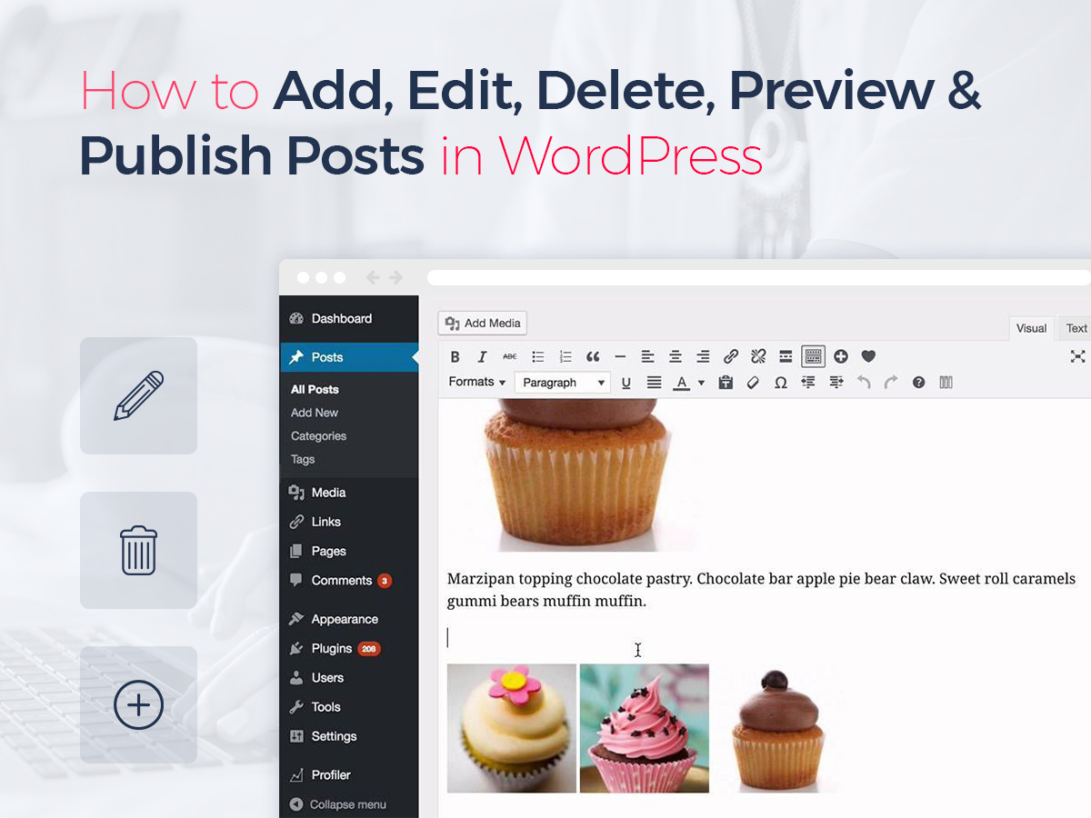 How to Add, Edit, Delete, Preview and Publish Posts in WordPress