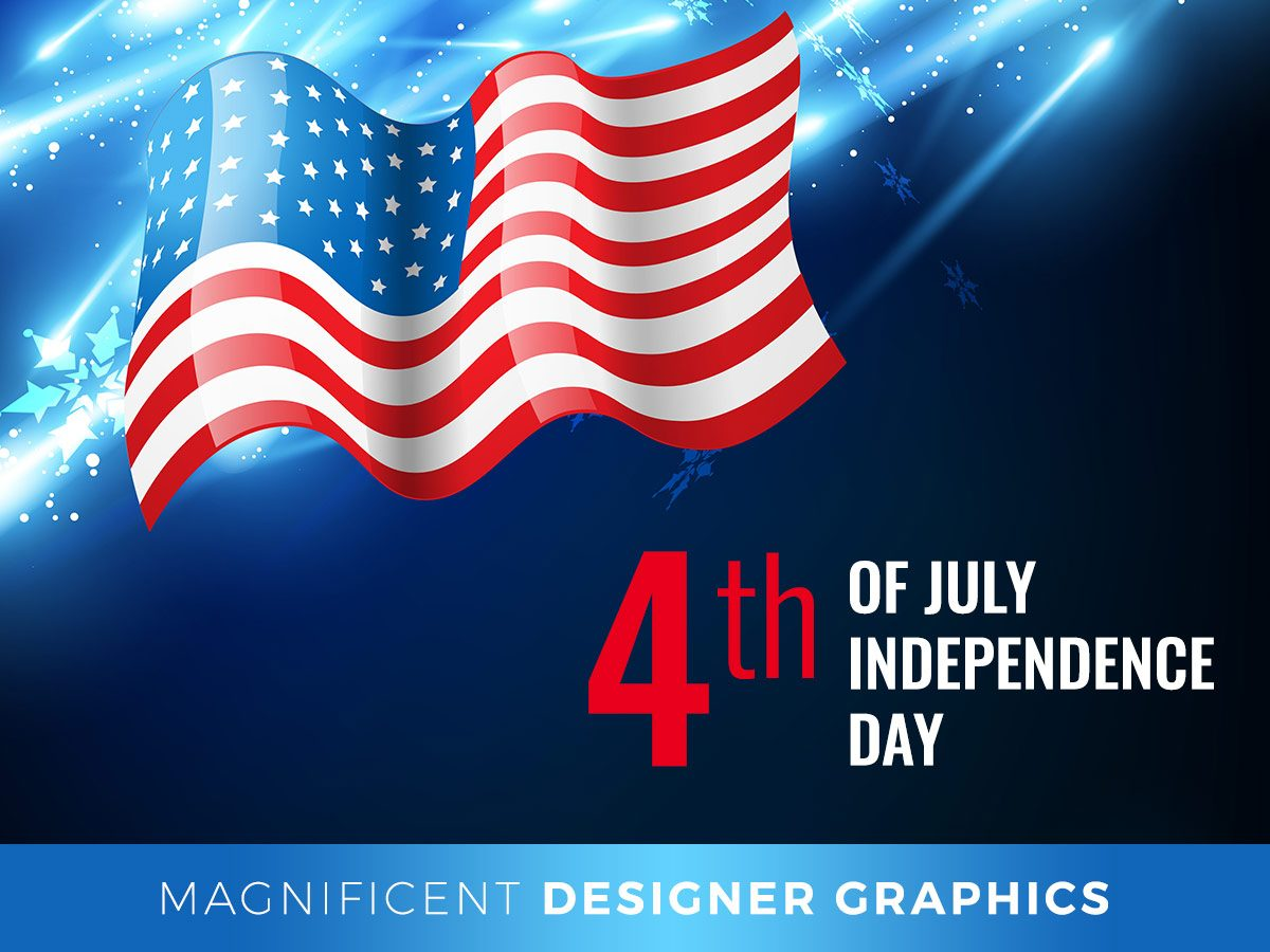 Magnificent Designer Graphics for the 4th of July Flyers, Icons, Banners, and More