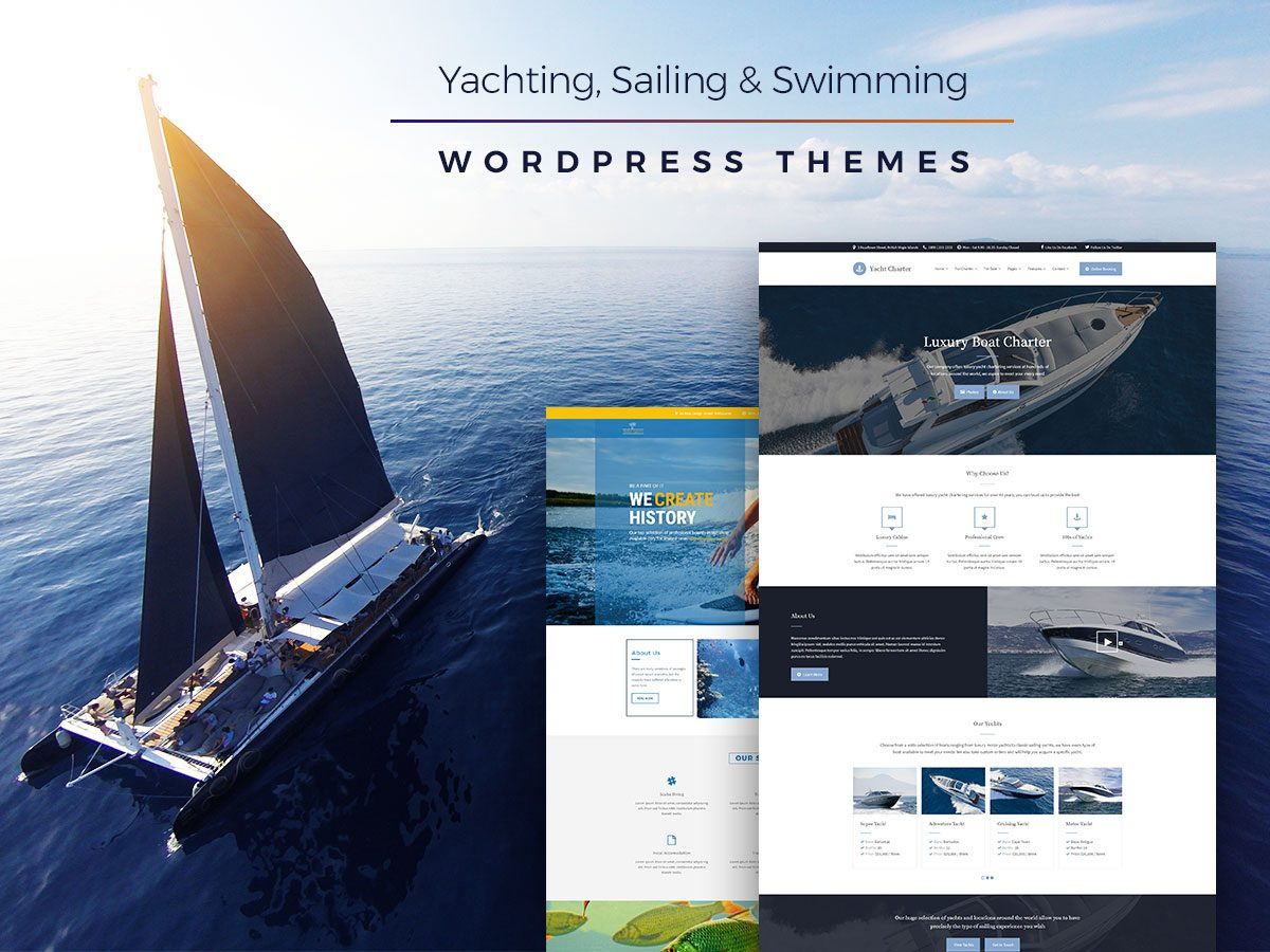 Yachting, Sailing and Swimming WordPress Themes for This Summer 2