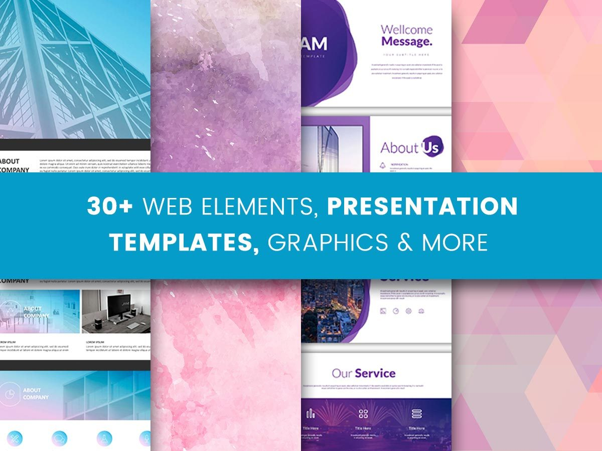 30+ Web Elements, Presentation Templates, Graphics, and More