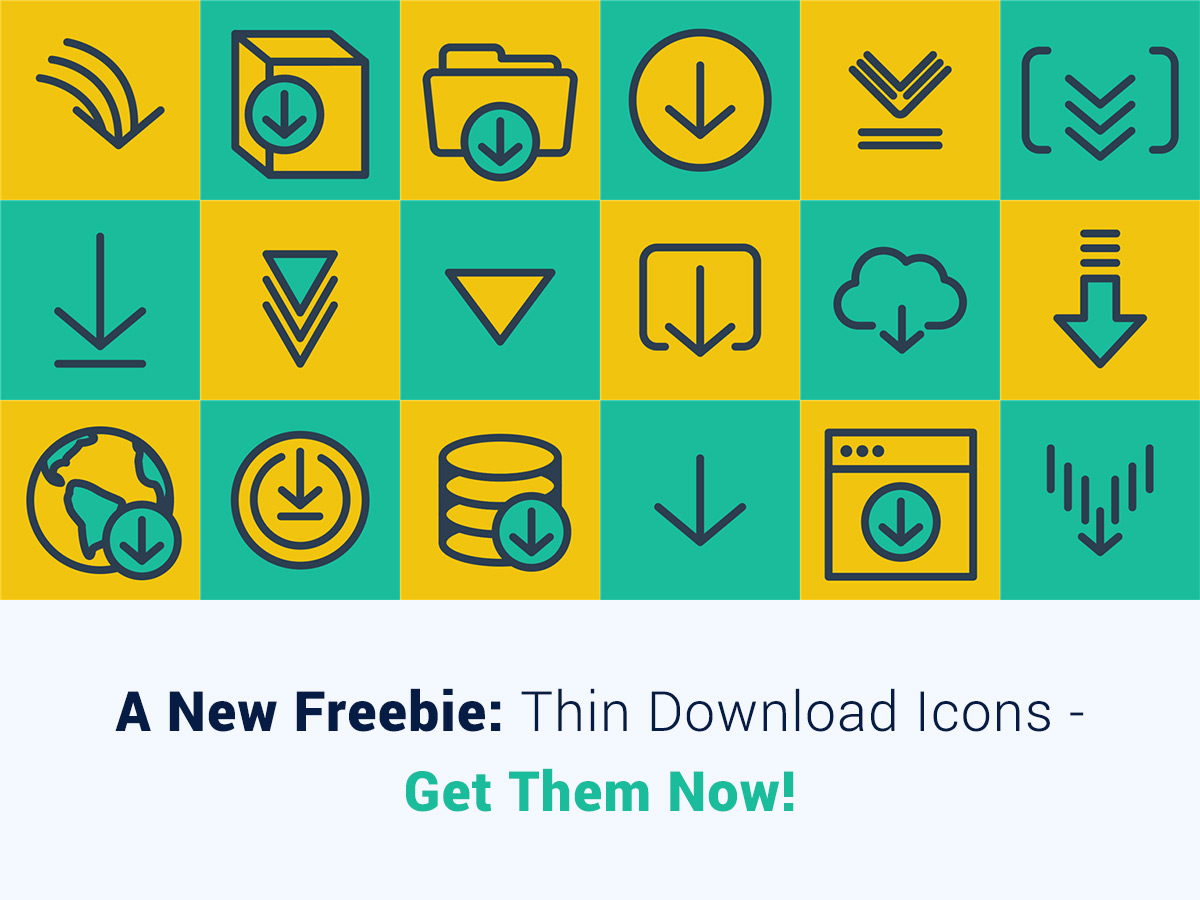 A New Freebie Thin Download Icons - Get Them Now!
