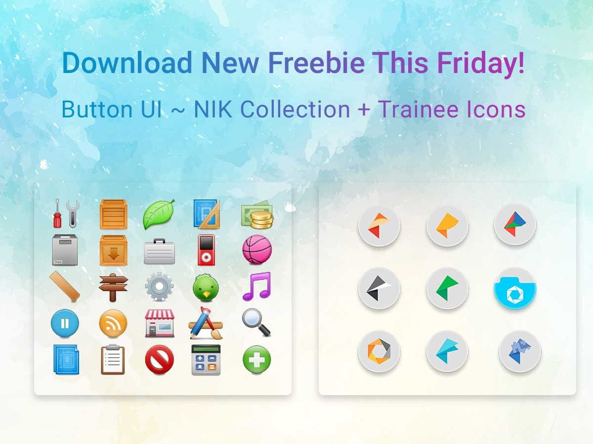 Button UI ~ NIK Collection + Trainee Icons - Download New Freebie This Friday!