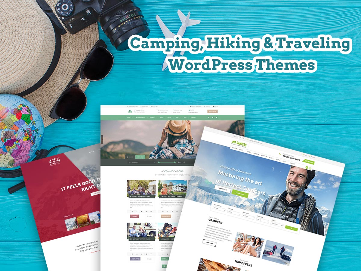 Camping, Hiking and Traveling WordPress Themes for August 2017