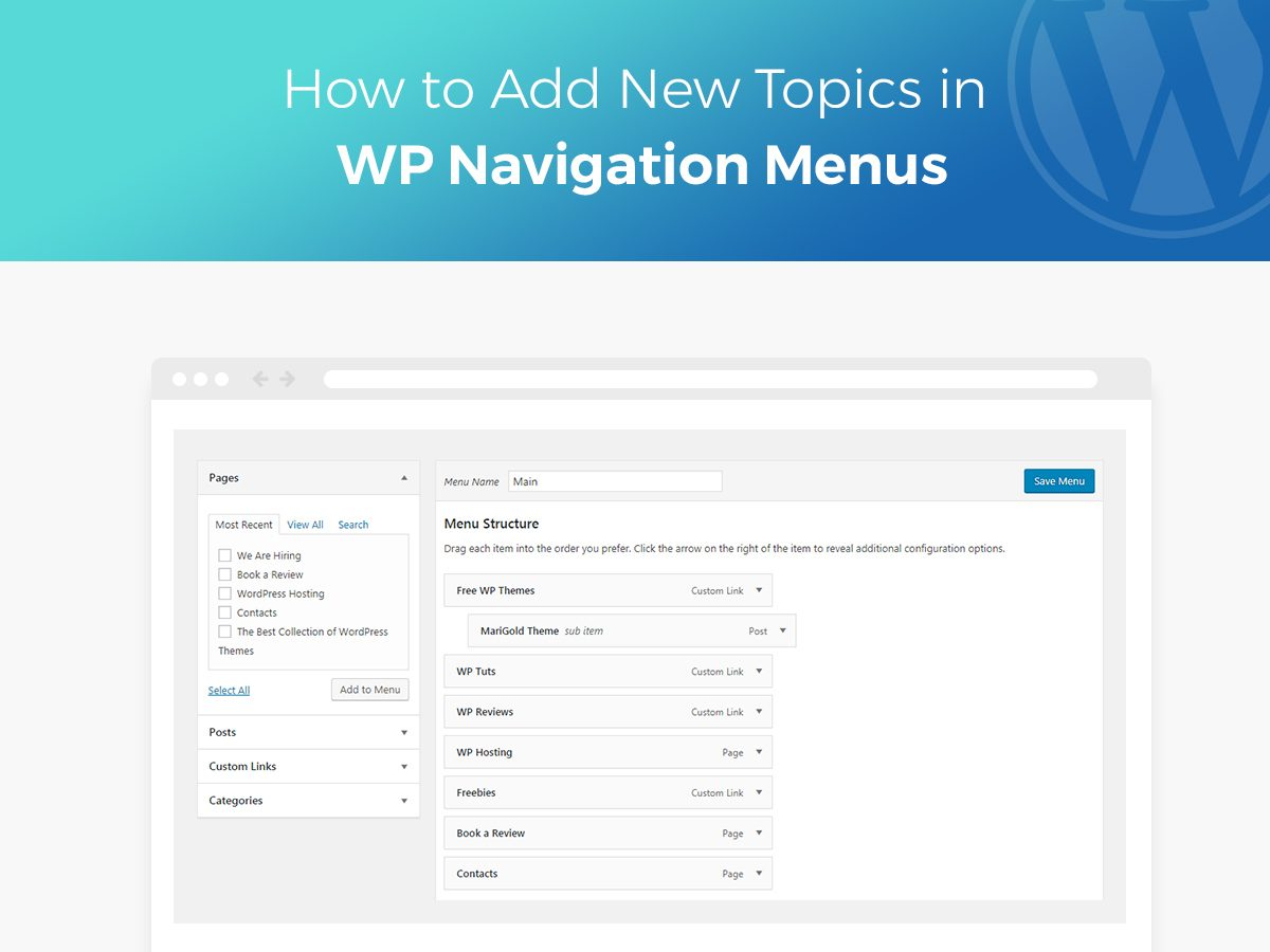 How to Add New Topics in WP Navigation Menus