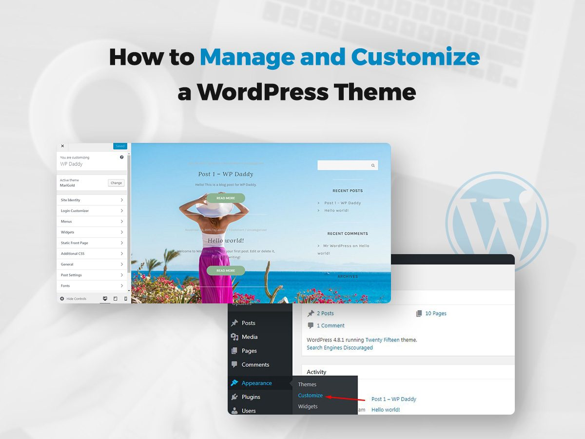 How to Manage and Customize a WordPress Theme
