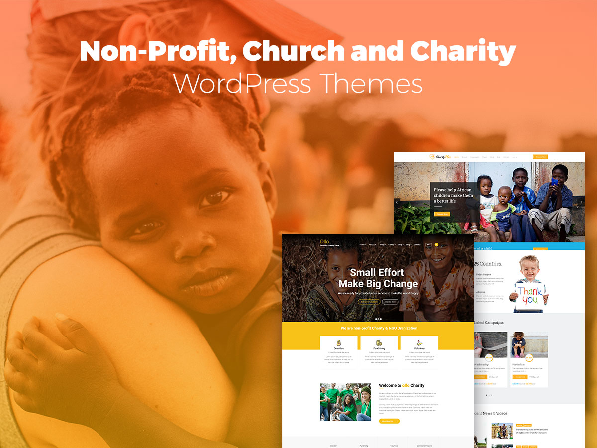 Non-Profit, Church and Charity WordPress Themes for Everyone Happy to Help
