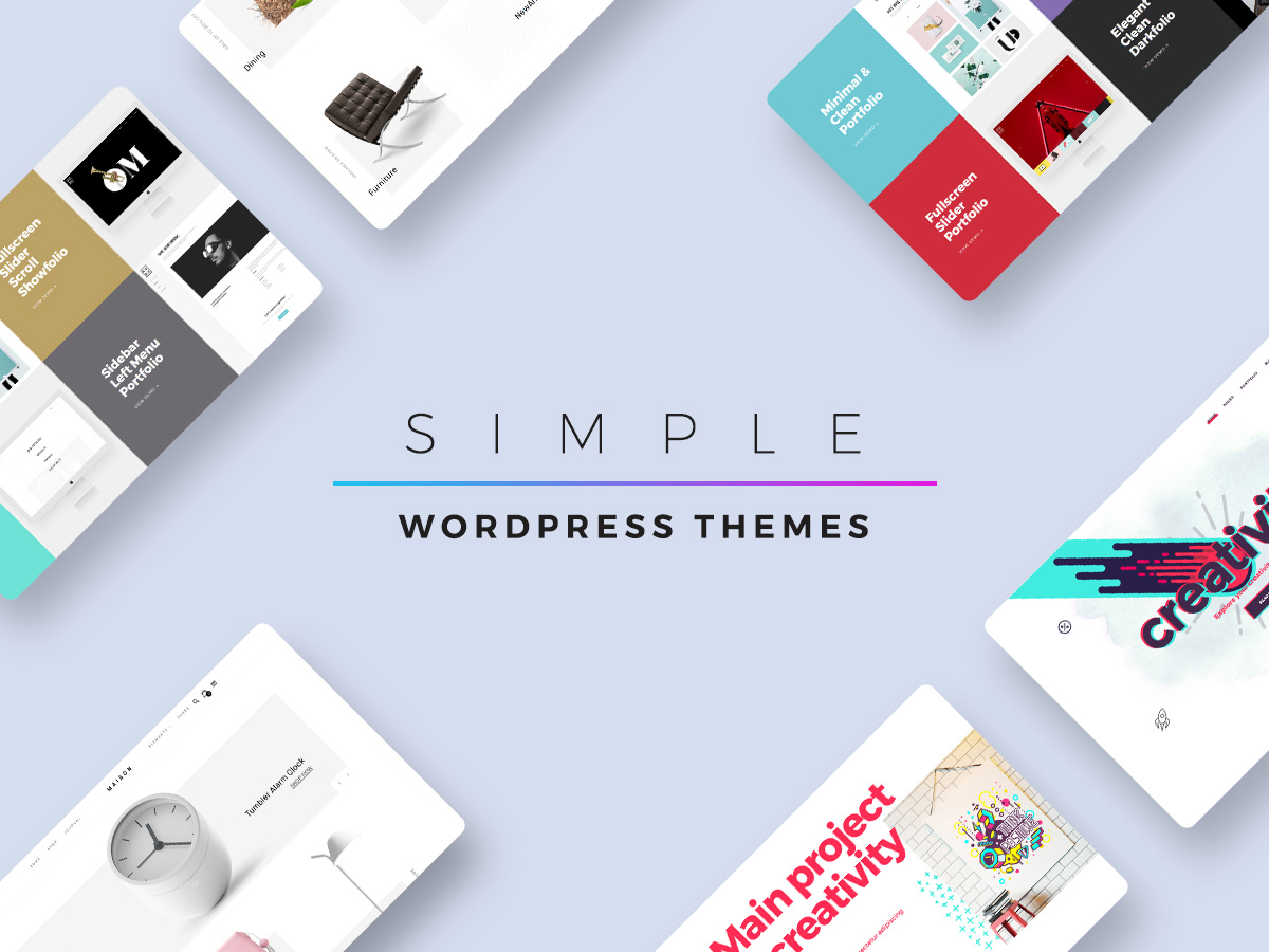 Simple WordPress Themes for September 2017