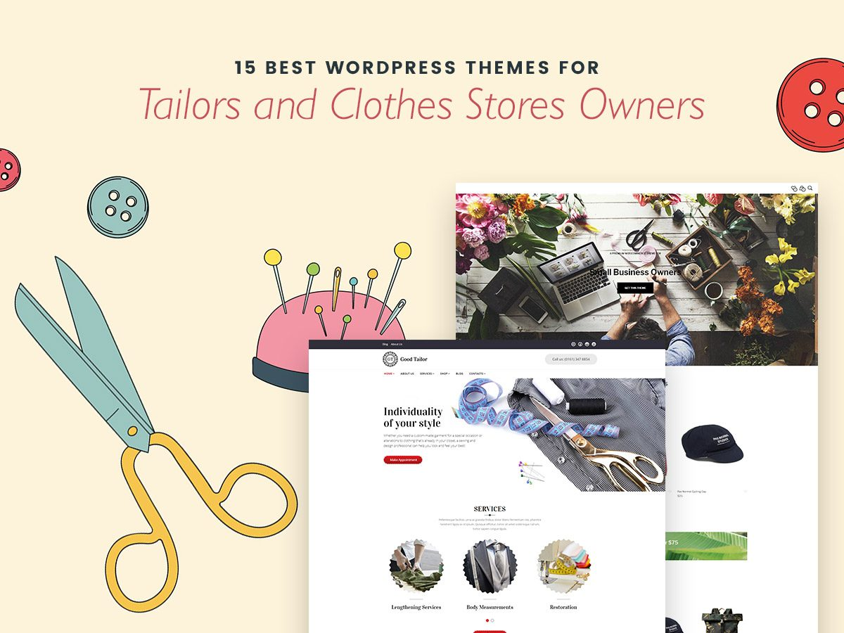 15 Best WordPress Themes for Tailors and Clothes Stores Owners