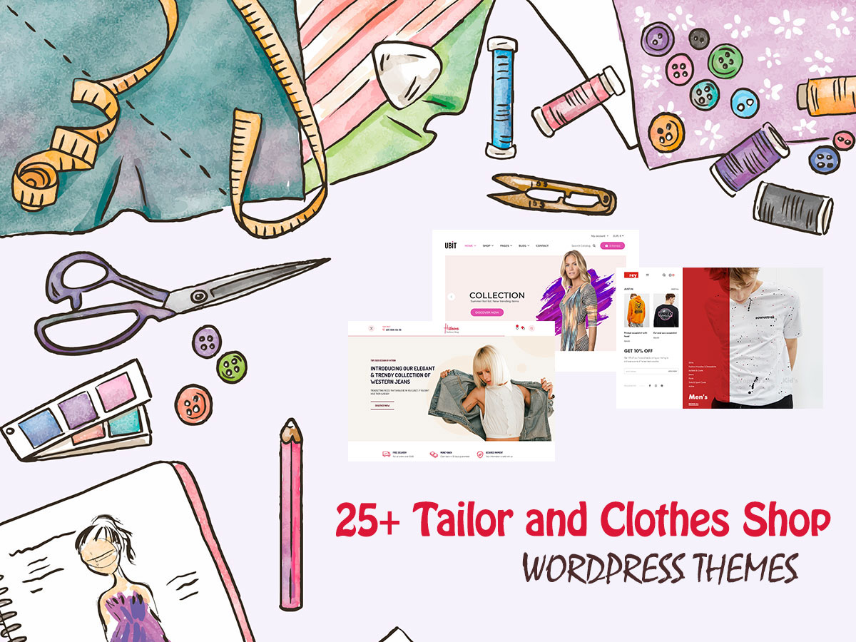 25+ Tailor and Clothes Shop WordPress Themes