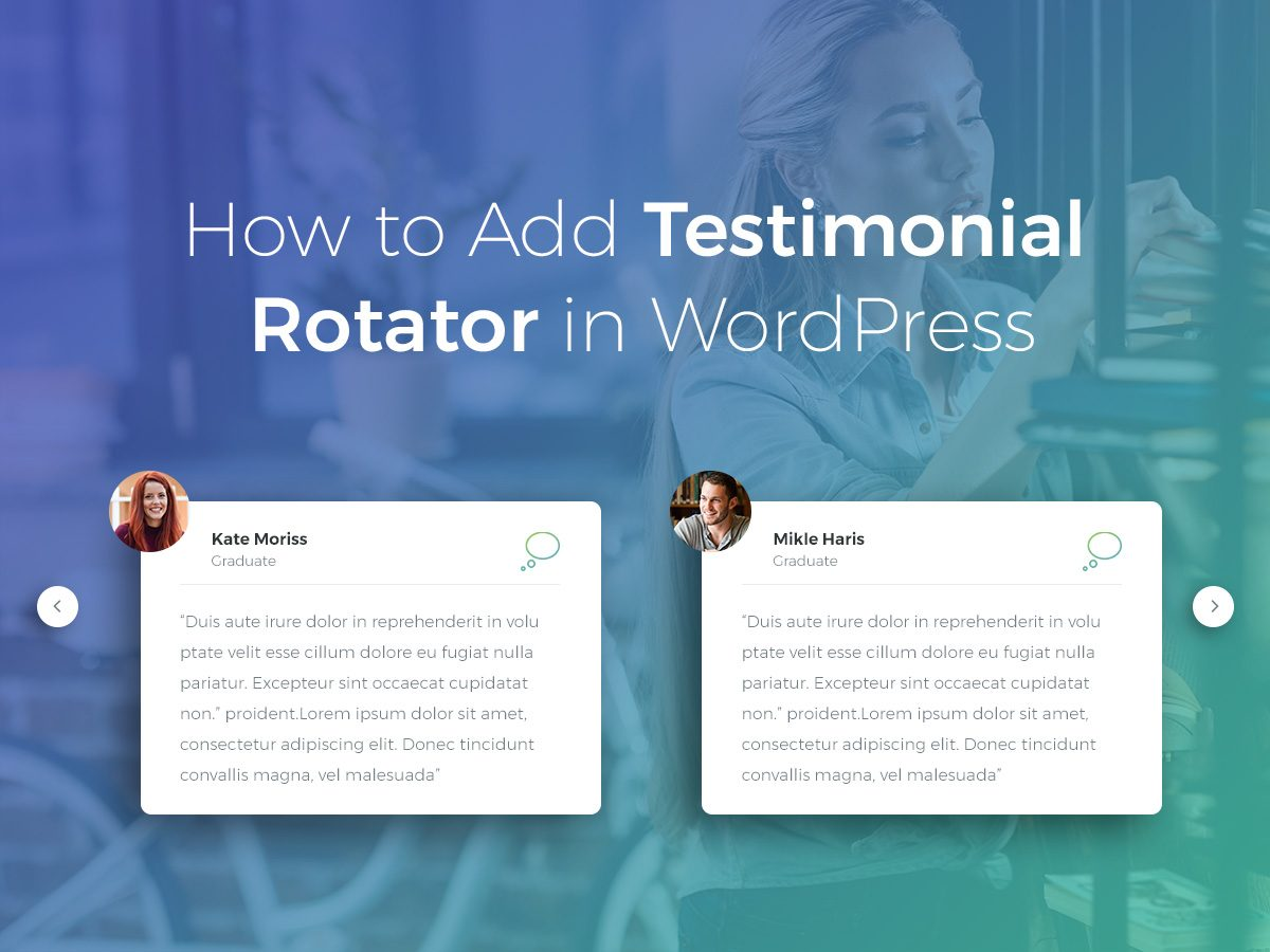 How to Add Testimonial Rotator in WordPress