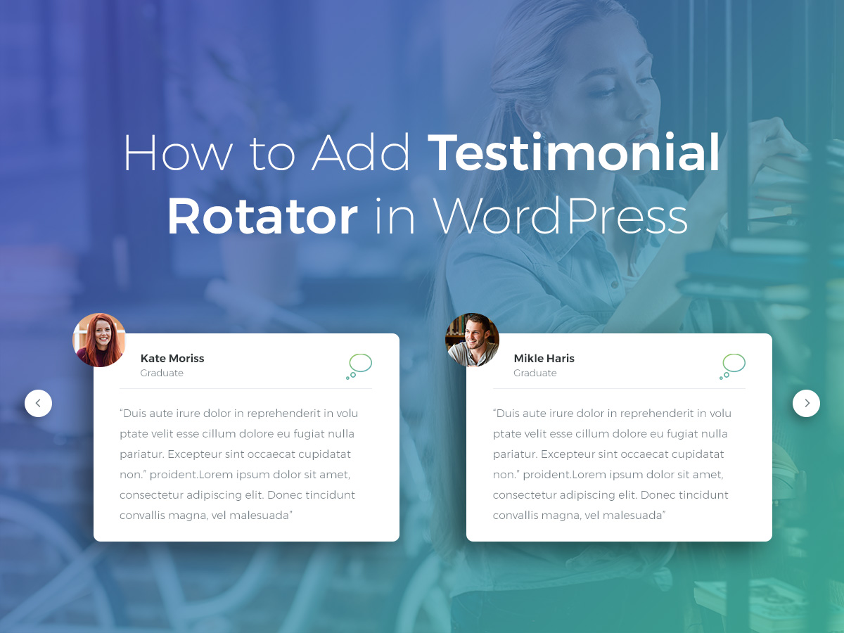How to Add Testimonial Rotator in WordPress
