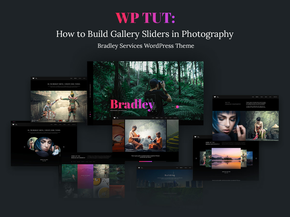 How to Build Gallery Sliders in Photography Bradley Services WordPress Theme