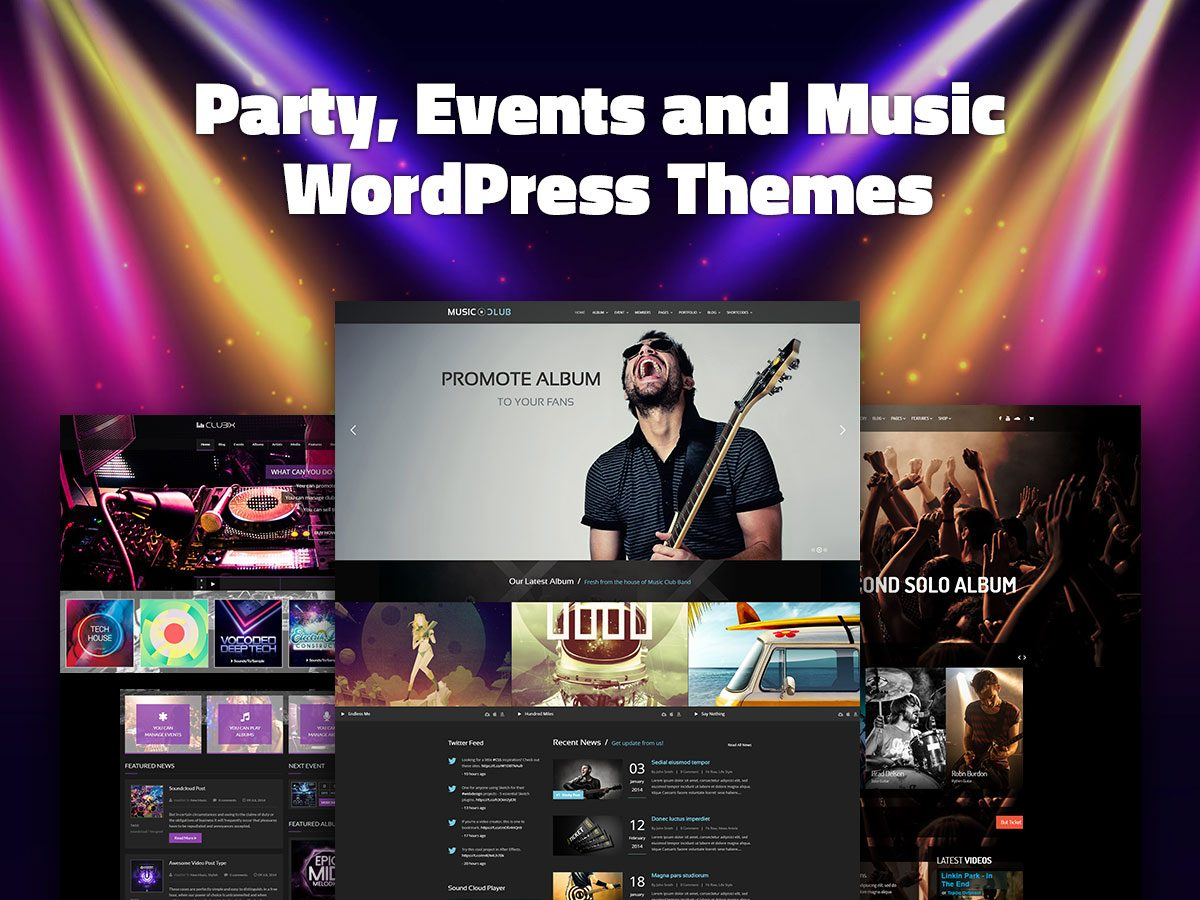Party, Events and Music WordPress Themes for Entertainment Websites