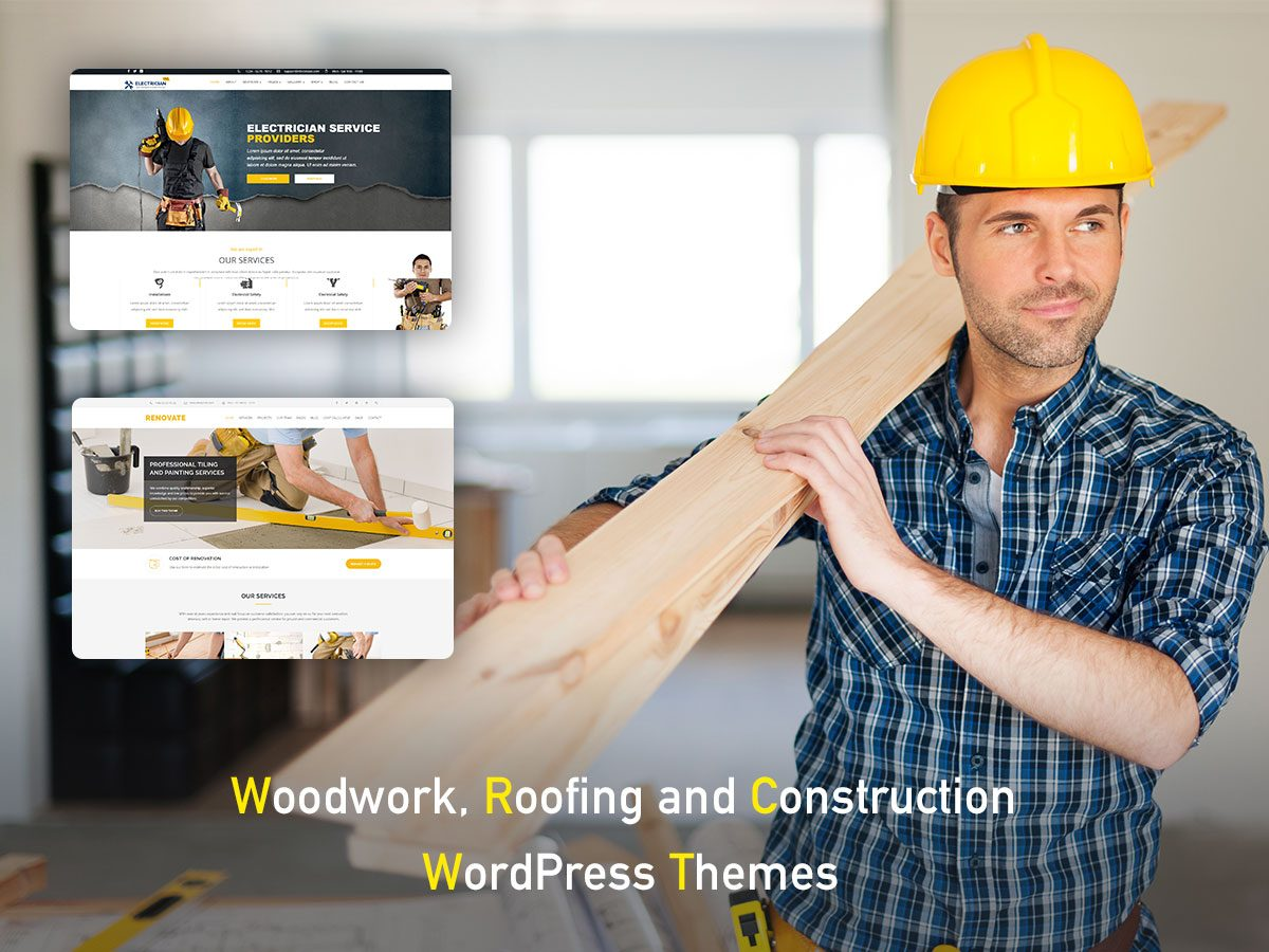 Woodwork, Roofing and Construction WordPress Themes for Skilled Masters