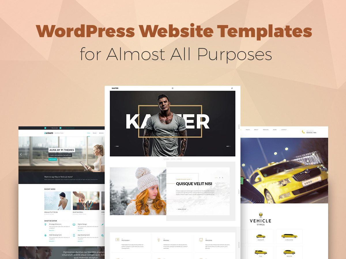 WordPress Website Templates for Almost All Purposes