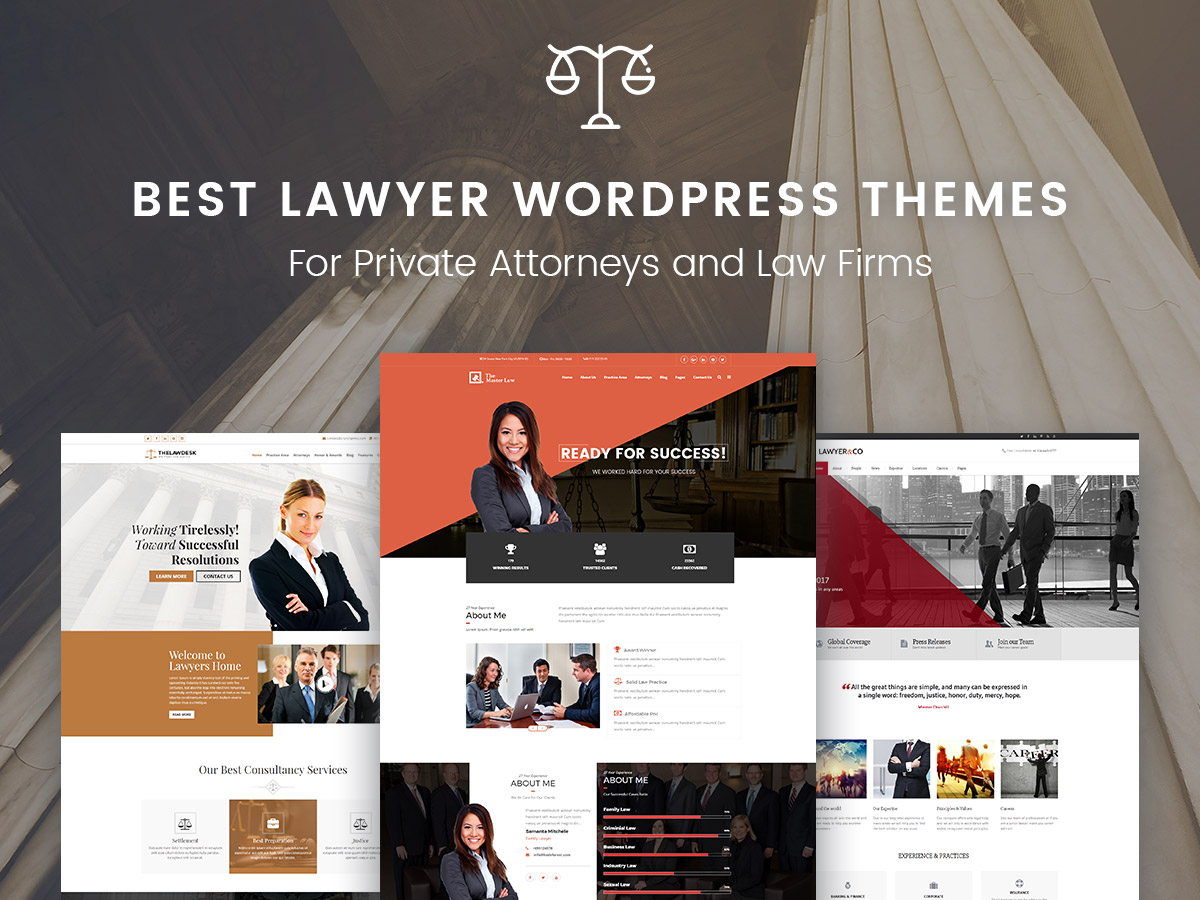 Best Lawyer WordPress Themes For Private Attorneys and Law Firms 2017