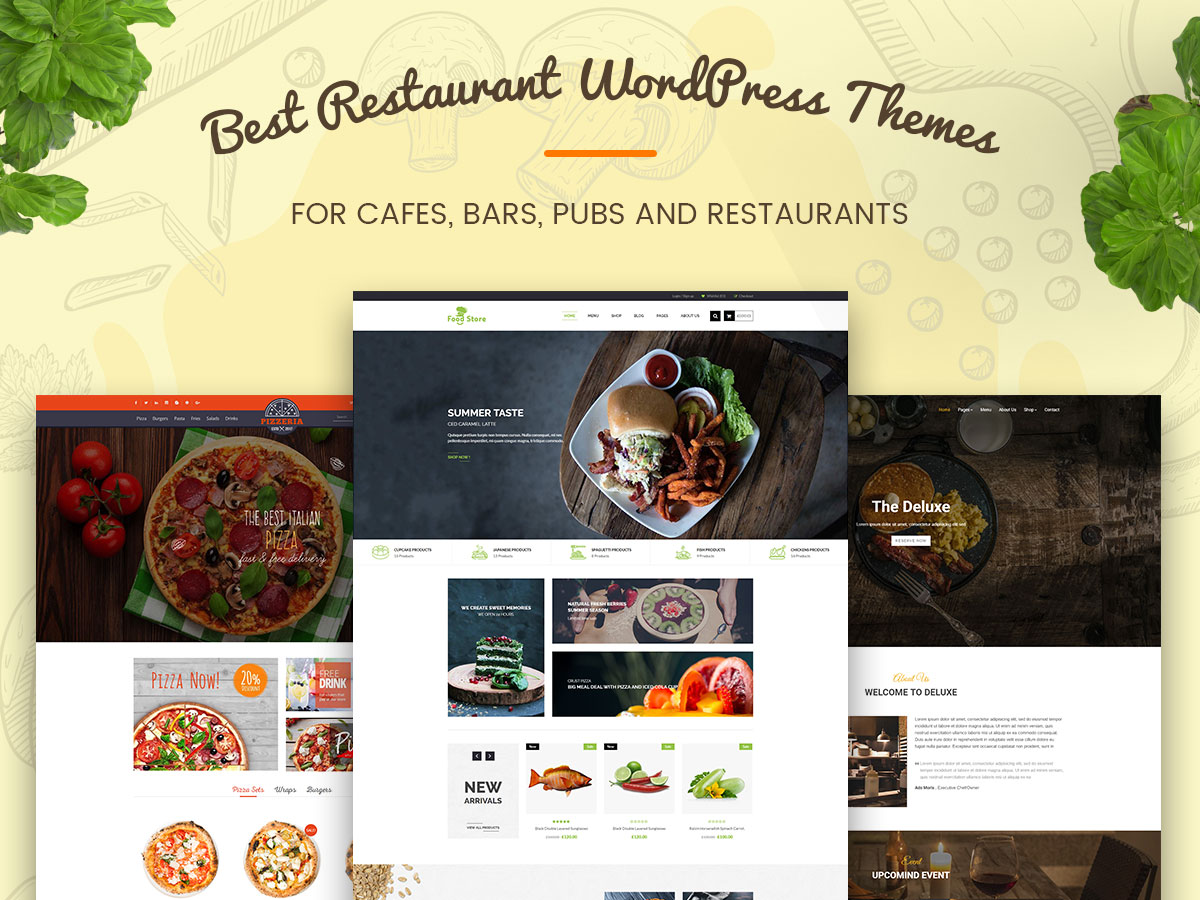 Restaurant WordPress Themes For Cafes And Restaurants Wp Daddy