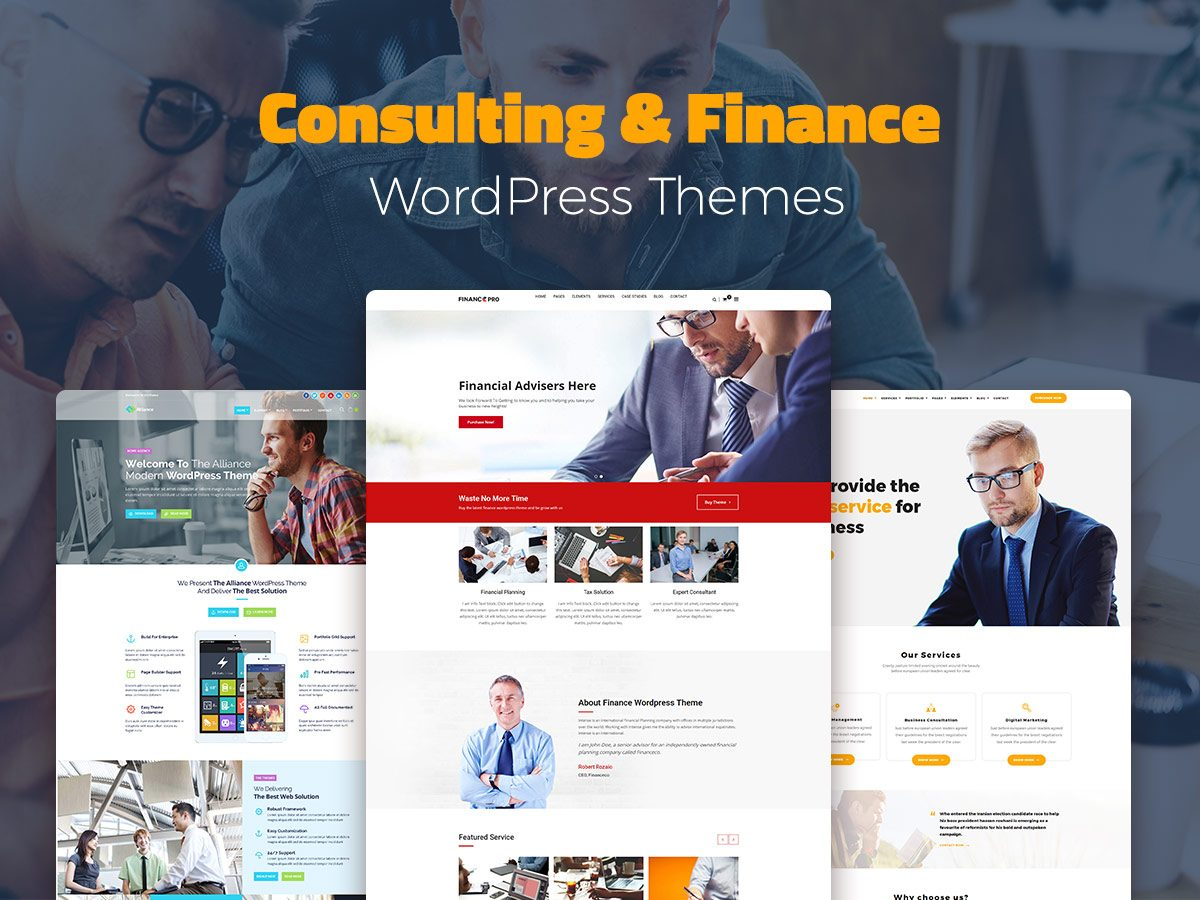 Consulting and Finance WordPress Themes for Business-Experts-1
