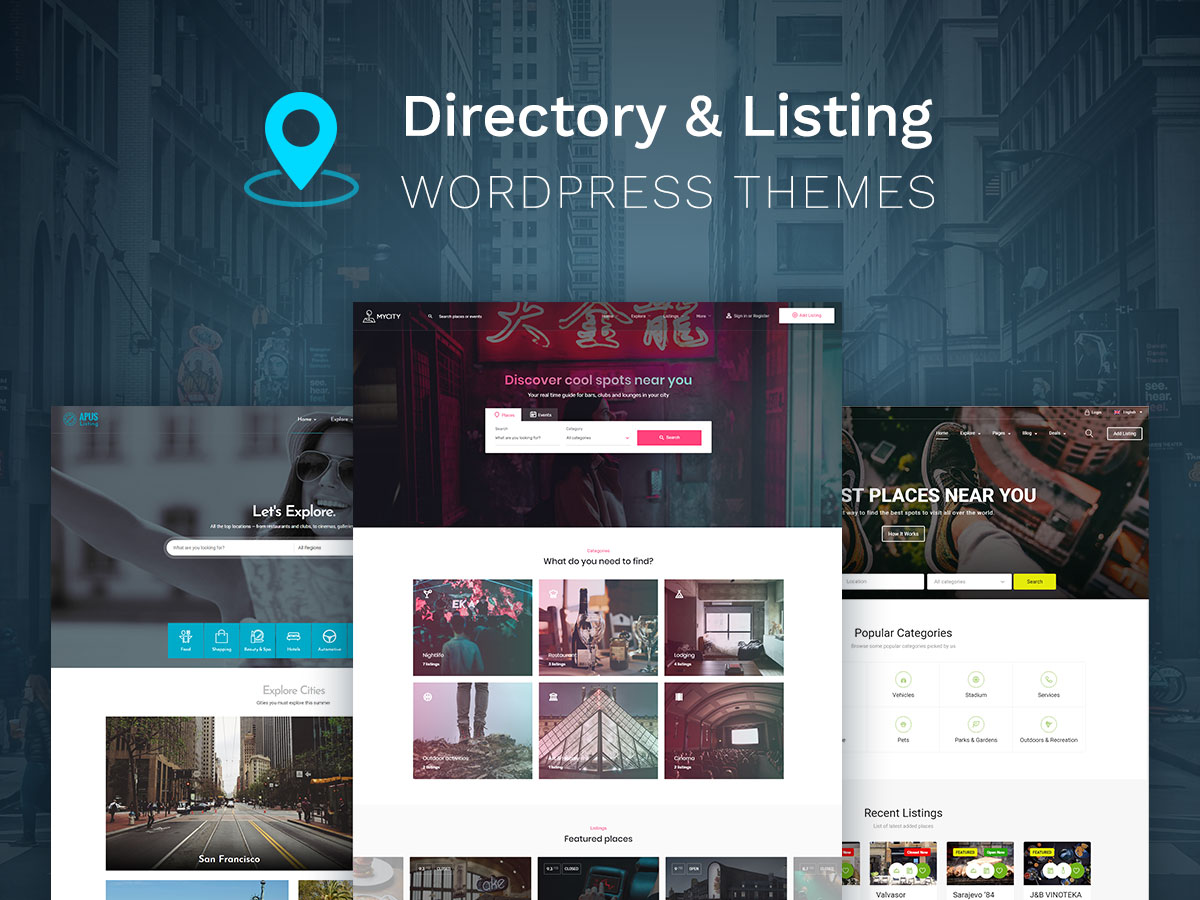 Directory and Listing WordPress Themes to Find Cool Spots in Any Location
