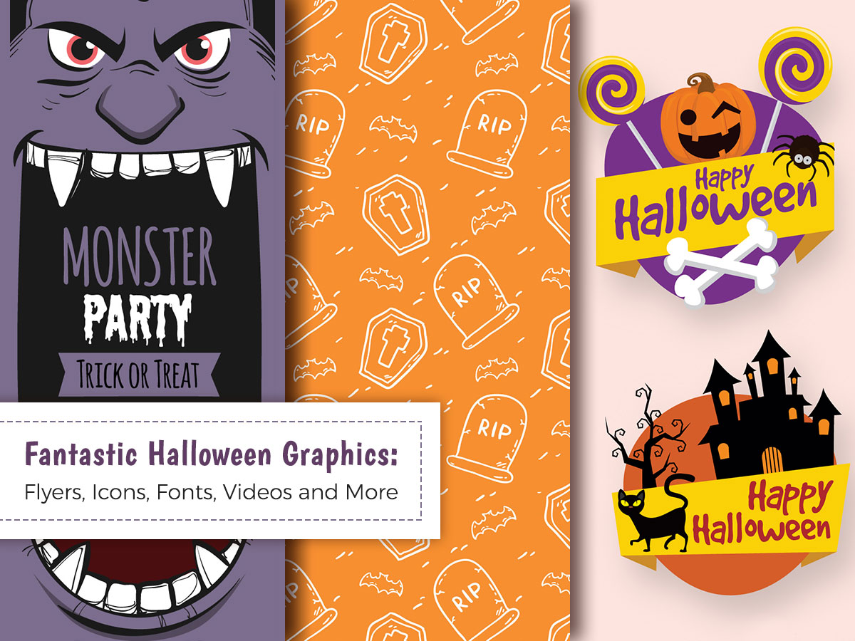 Fantastic Halloween Graphics Flyers, Icons, Fonts, Videos
