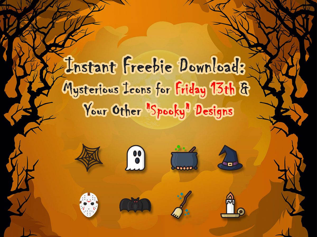 Instant Freebie Download Mysterious Icons for Friday 13th and Your Other Spooky Designs