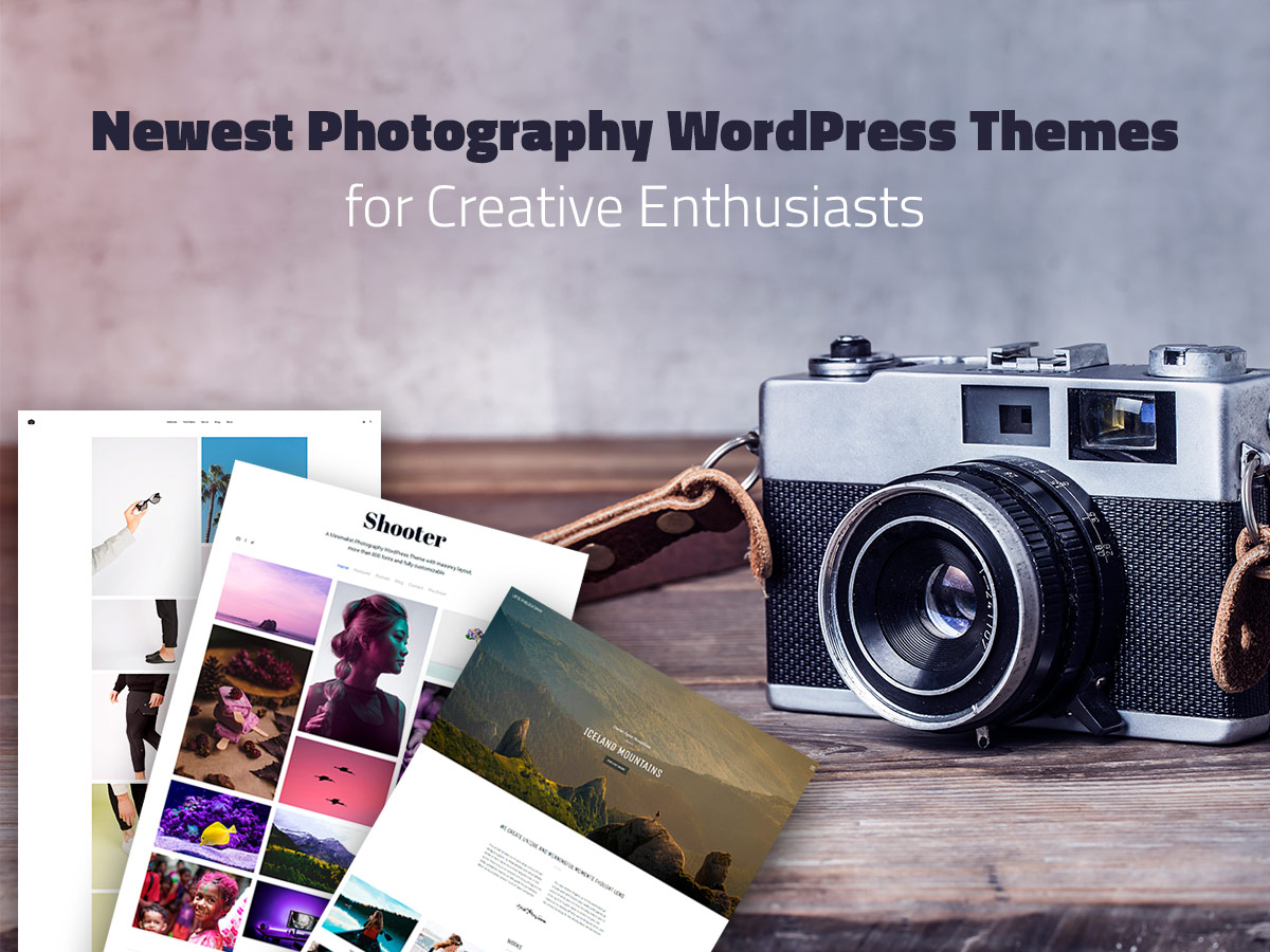 Newest Photography WordPress Themes for Creative Enthusiasts
