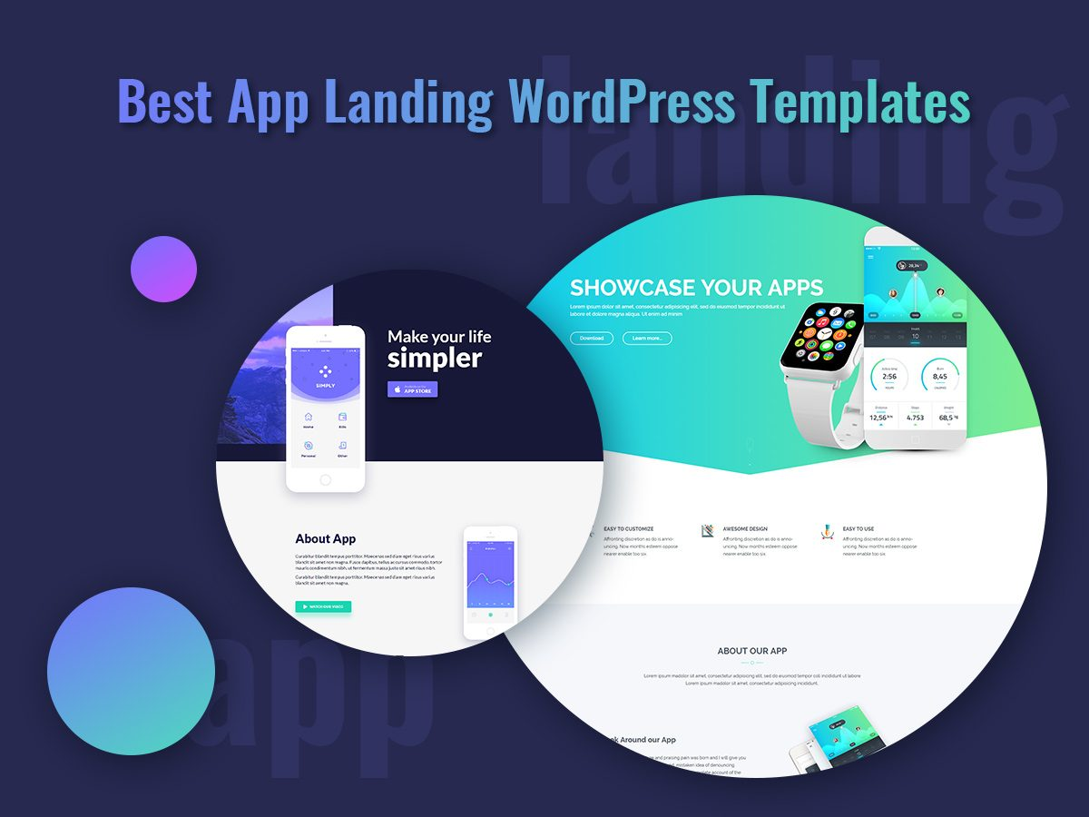 Best App Landing WordPress Templates To Gorgeously Promote Your App