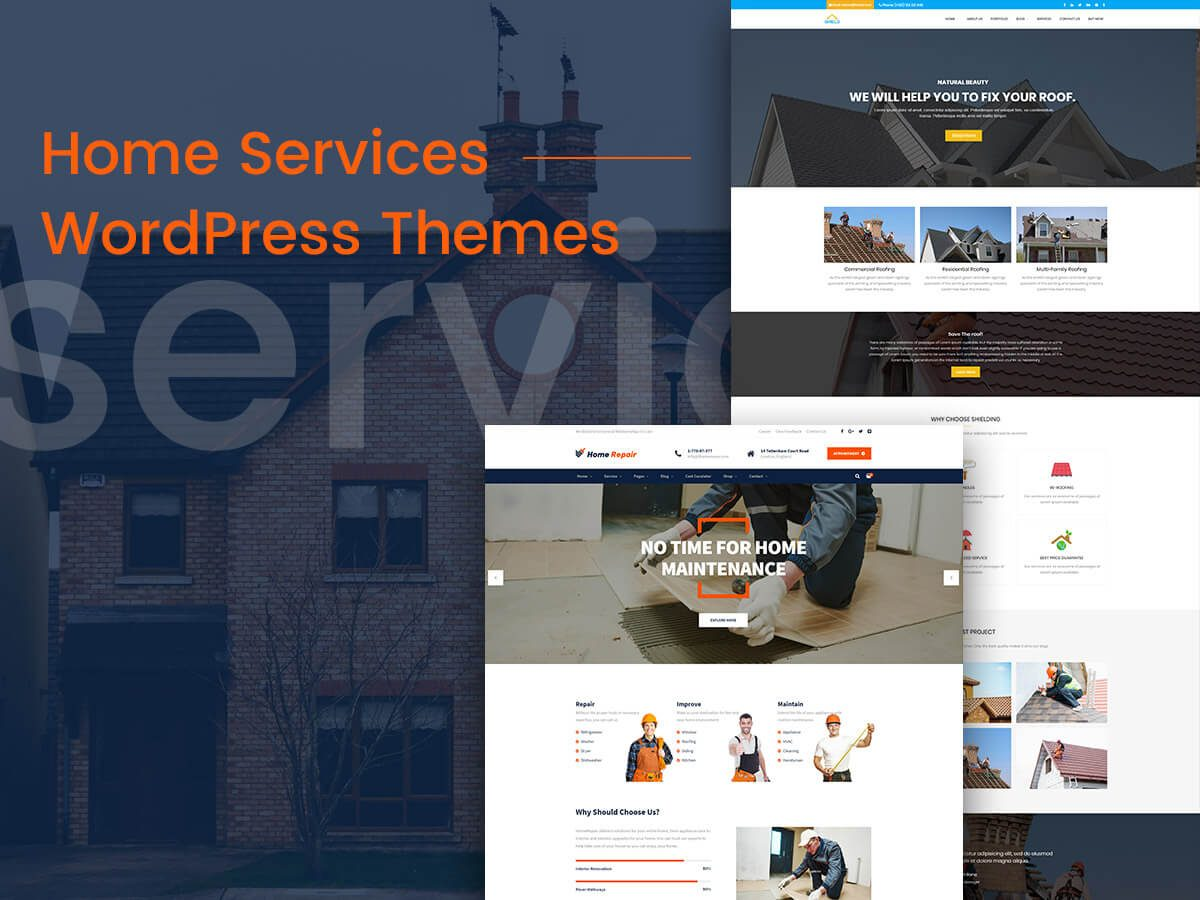 Home Services WordPress Themes for Roof Repairmen, Plumbers, Electricians