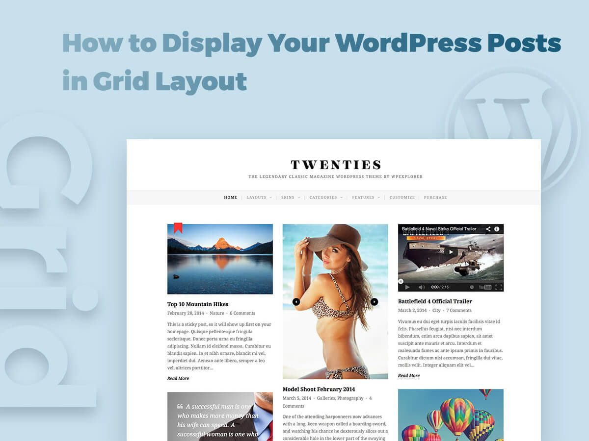 How to Display Your WordPress Posts in Grid Layout