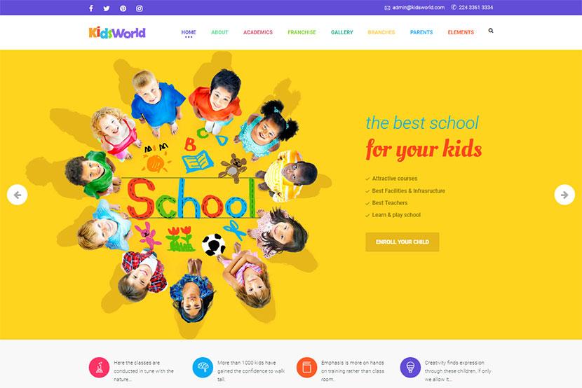 Kids WordPress Themes for Kindergartens, Pre-School Institutions ...