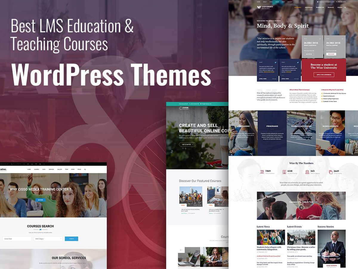 LMS Education and Teaching Courses WordPress Themes For Students and Teachers