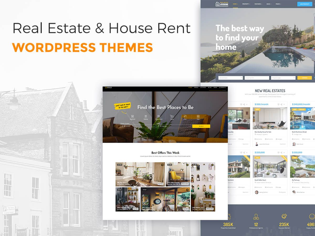 Real Estate and House Rent WordPress Themes for Agencies and Single Property Owners