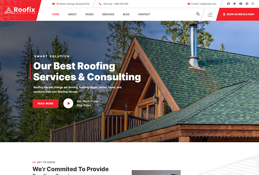 Roofix - Roofing Services WP Theme