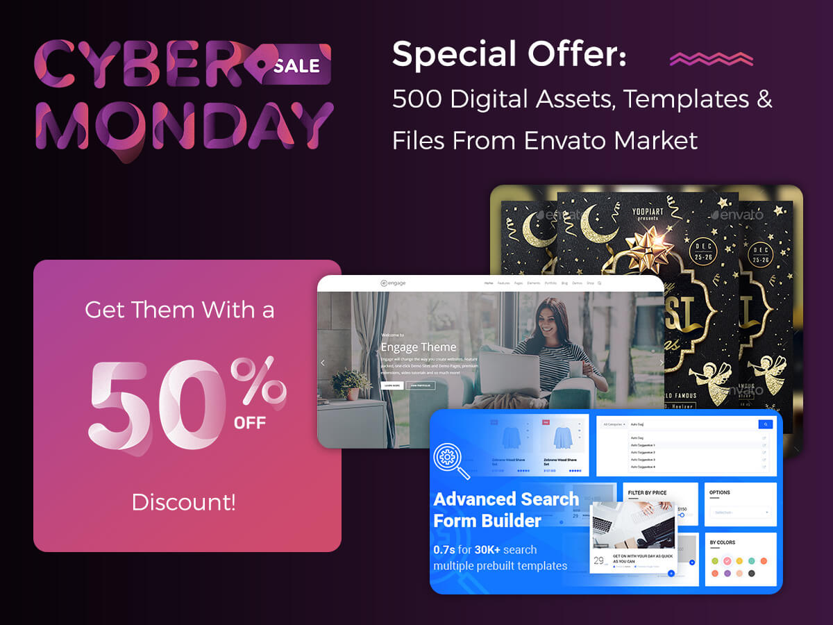 Special Offer 500 Digital Assets, Templates and Files - Get Them With a 50% Discount!