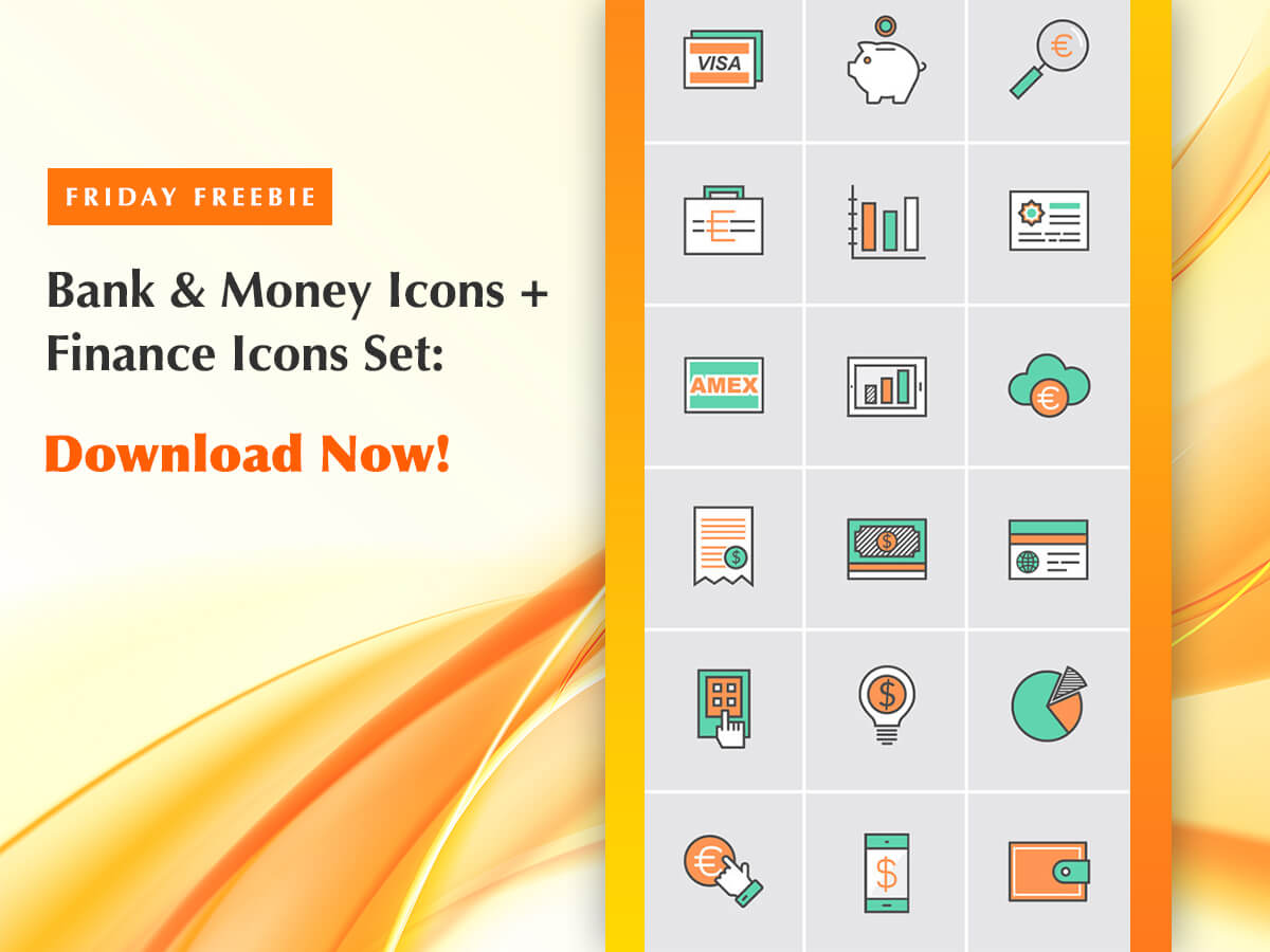 Bank & Money Icons + Finance Icons Set Friday Freebie to Download Now!