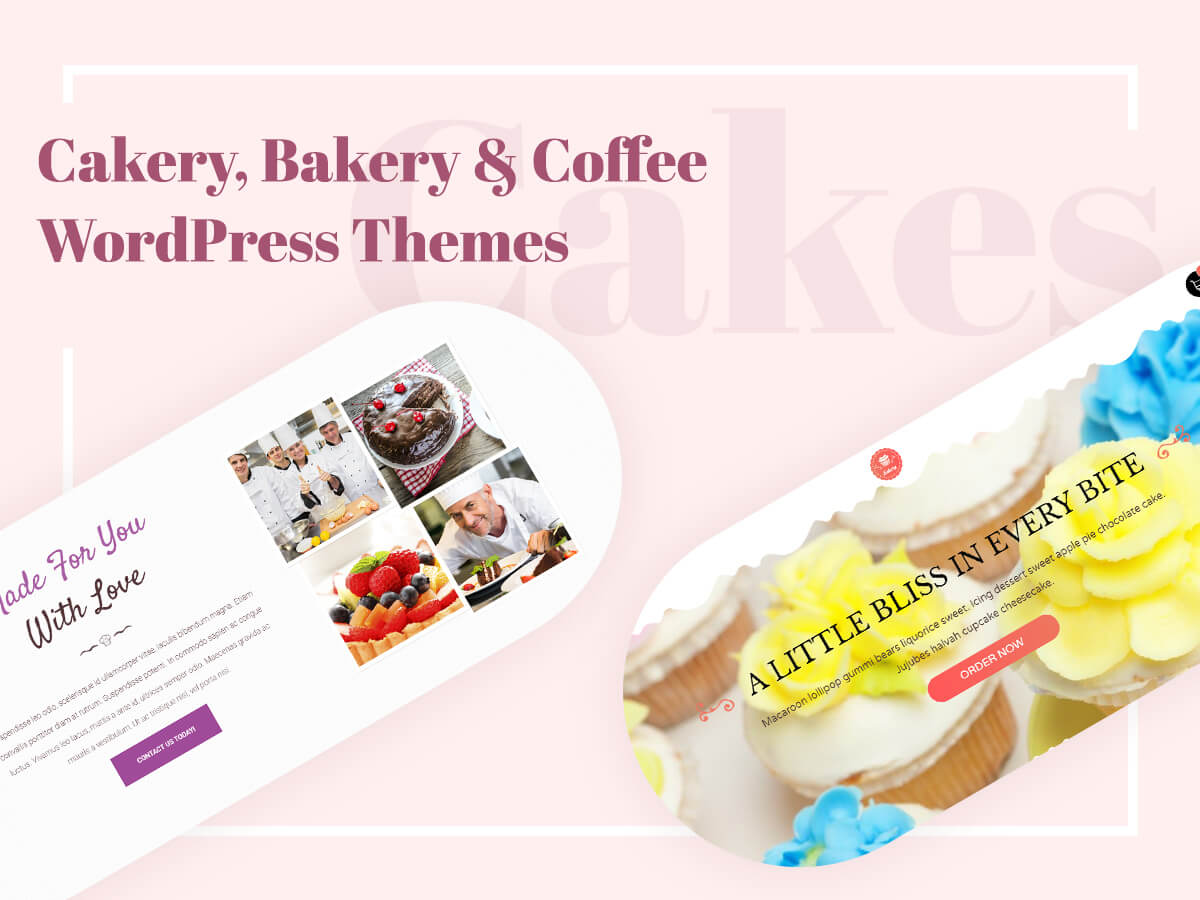 Cakery, Bakery and Coffee WordPress Themes for Your Public Catering Business