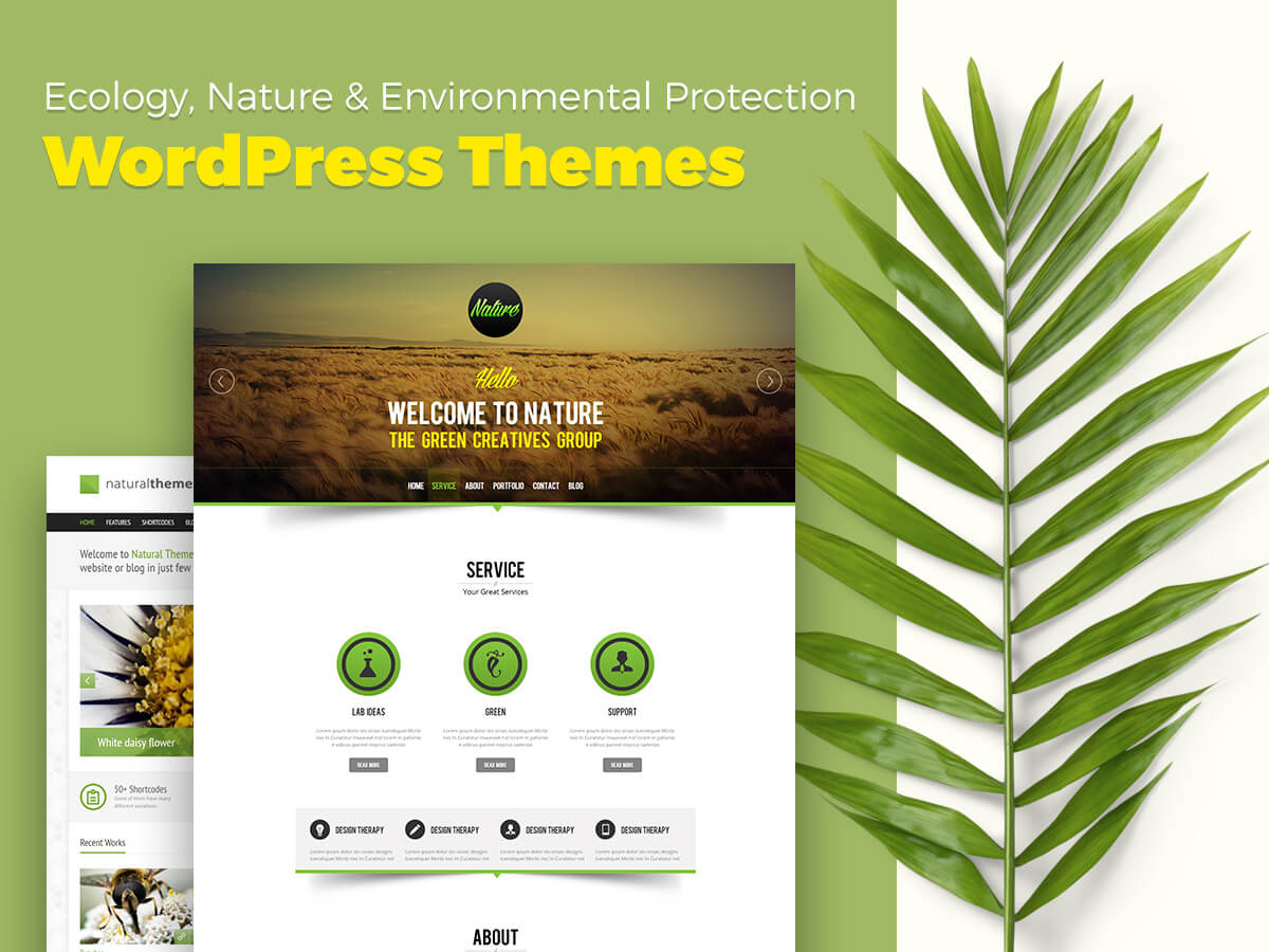 Ecology, Nature and Environmental Protection WordPress Themes For Your Websites in 2018
