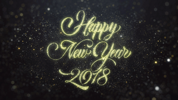 New year 2018 videos and motion graphics happy holidays wp daddy gold happy new year 2018 greeting m4hsunfo