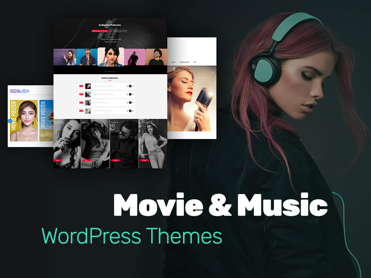 Movie and Music WordPress Themes for Film Studios, Directors, Singers, and More