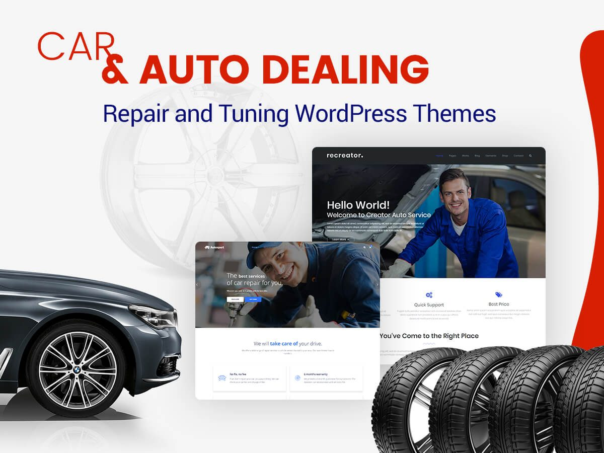 Car and Auto Dealing, Repair and Tuning WordPress Themes for Motor Mechanics and Showrooms