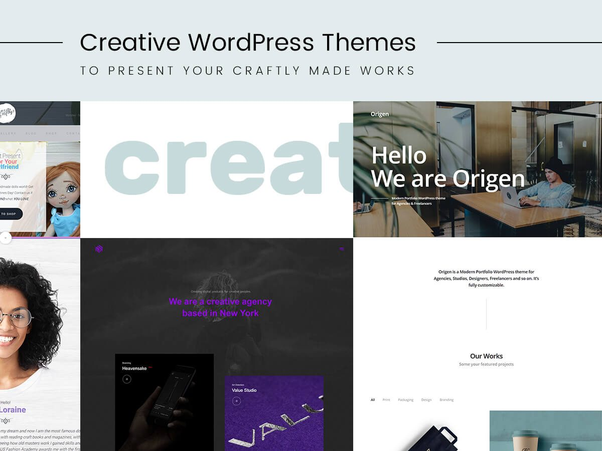 Creative WordPress Themes to Present Your Craftly Made Works