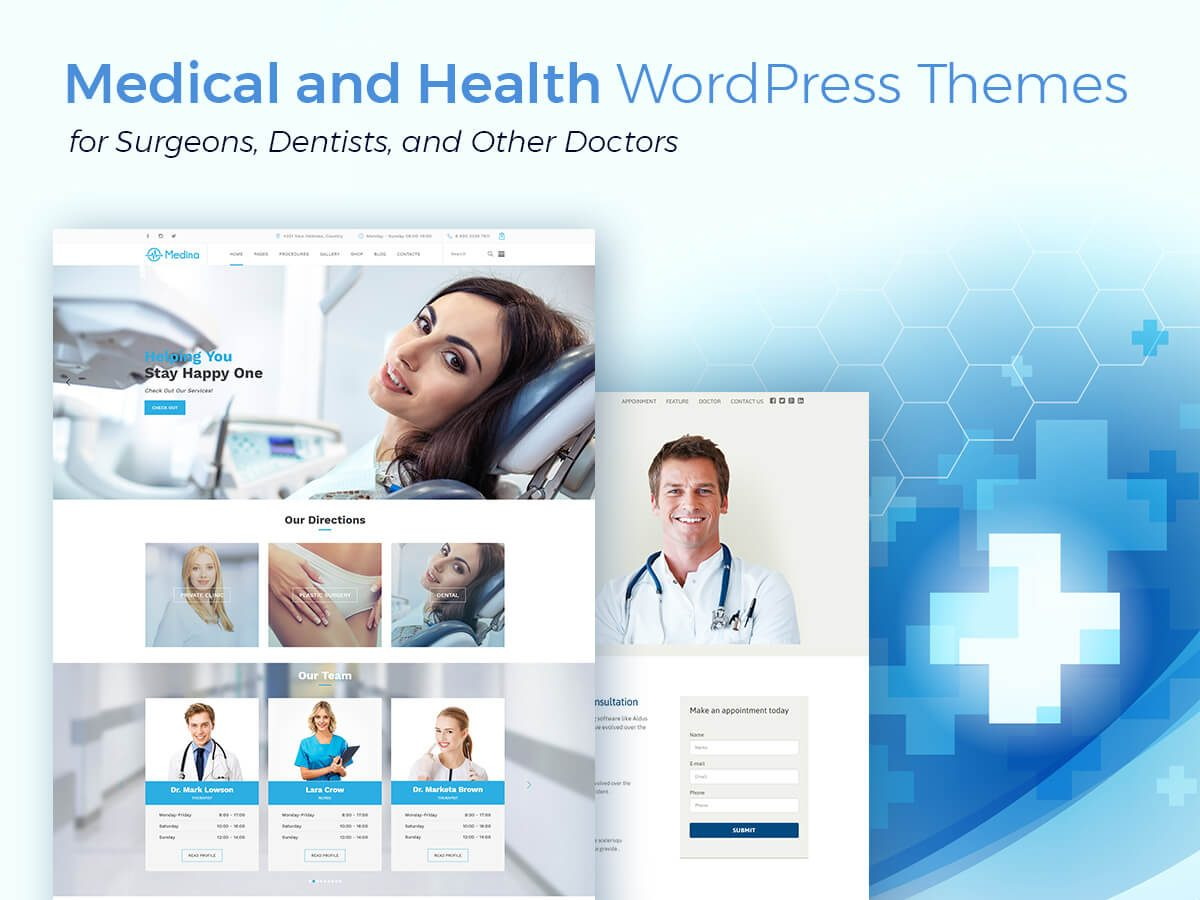 Medical and Health WordPress Themes for Surgeons, Dentists, and Other Doctors